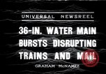 Image of water main bursts Chicago Illinois USA, 1936, second 1 stock footage video 65675029431