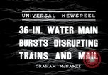 Image of water main bursts Chicago Illinois USA, 1936, second 5 stock footage video 65675029431