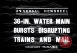 Image of water main bursts Chicago Illinois USA, 1936, second 6 stock footage video 65675029431