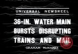 Image of water main bursts Chicago Illinois USA, 1936, second 8 stock footage video 65675029431