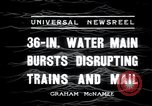 Image of water main bursts Chicago Illinois USA, 1936, second 9 stock footage video 65675029431