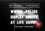 Image of water police Vienna Austria, 1936, second 1 stock footage video 65675029432