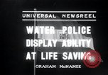 Image of water police Vienna Austria, 1936, second 2 stock footage video 65675029432