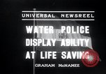 Image of water police Vienna Austria, 1936, second 4 stock footage video 65675029432