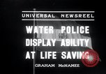 Image of water police Vienna Austria, 1936, second 7 stock footage video 65675029432