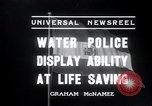 Image of water police Vienna Austria, 1936, second 9 stock footage video 65675029432