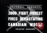 Image of forest fire Secord Township Ontario Canada, 1936, second 6 stock footage video 65675029433