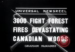 Image of forest fire Secord Township Ontario Canada, 1936, second 7 stock footage video 65675029433