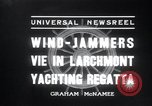 Image of sailing boats Larchmont New York USA, 1936, second 3 stock footage video 65675029436
