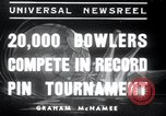 Image of bowling New York United States USA, 1937, second 1 stock footage video 65675029443