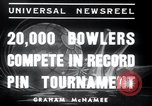 Image of bowling New York United States USA, 1937, second 2 stock footage video 65675029443