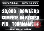 Image of bowling New York United States USA, 1937, second 3 stock footage video 65675029443