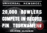Image of bowling New York United States USA, 1937, second 4 stock footage video 65675029443