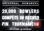 Image of bowling New York United States USA, 1937, second 9 stock footage video 65675029443