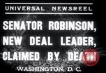 Image of Joseph T Robinson Washington DC USA, 1937, second 2 stock footage video 65675029454