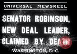 Image of Joseph T Robinson Washington DC USA, 1937, second 6 stock footage video 65675029454