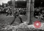 Image of tree-chopping and sawing contests Bavaria Germany, 1967, second 6 stock footage video 65675029474