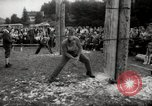 Image of tree-chopping and sawing contests Bavaria Germany, 1967, second 8 stock footage video 65675029474