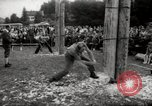 Image of tree-chopping and sawing contests Bavaria Germany, 1967, second 9 stock footage video 65675029474