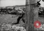 Image of tree-chopping and sawing contests Bavaria Germany, 1967, second 11 stock footage video 65675029474