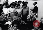 Image of African American youth orchestra and chorus Arkansas United States USA, 1968, second 9 stock footage video 65675029499