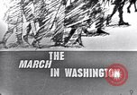 Image of Black Americans Washington DC USA, 1963, second 8 stock footage video 65675029514