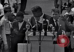 Image of Actor Ossie Davis introducing Burt Lancaster Washington DC USA, 1963, second 8 stock footage video 65675029518