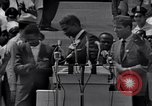 Image of Actor Ossie Davis introducing Burt Lancaster Washington DC USA, 1963, second 9 stock footage video 65675029518