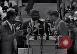 Image of Actor Ossie Davis introducing Burt Lancaster Washington DC USA, 1963, second 10 stock footage video 65675029518