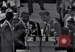 Image of Actor Ossie Davis introducing Burt Lancaster Washington DC, 1963, second 11 stock footage video 65675029518