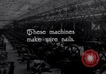 Image of production of wire nails United States USA, 1924, second 3 stock footage video 65675029558