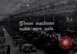 Image of production of wire nails United States USA, 1924, second 4 stock footage video 65675029558