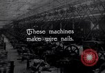 Image of production of wire nails United States USA, 1924, second 5 stock footage video 65675029558