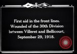 Image of American 30th Division Bellicourt France, 1918, second 6 stock footage video 65675029582