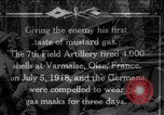 Image of Firing mustard gas shells from a French 75 field piece Varmaise Oise France, 1918, second 1 stock footage video 65675029591