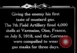 Image of Firing mustard gas shells from a French 75 field piece Varmaise Oise France, 1918, second 3 stock footage video 65675029591