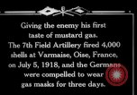 Image of Firing mustard gas shells from a French 75 field piece Varmaise Oise France, 1918, second 6 stock footage video 65675029591