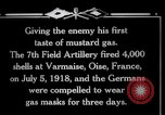 Image of Firing mustard gas shells from a French 75 field piece Varmaise Oise France, 1918, second 11 stock footage video 65675029591