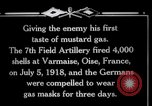 Image of Firing mustard gas shells from a French 75 field piece Varmaise Oise France, 1918, second 12 stock footage video 65675029591
