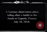 Image of German observation plane Cuperly France, 1918, second 1 stock footage video 65675029594