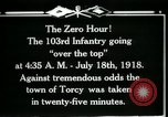 Image of American 103rd Infantry Torcy France, 1918, second 2 stock footage video 65675029596