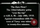 Image of American 103rd Infantry Torcy France, 1918, second 8 stock footage video 65675029596