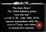 Image of American 103rd Infantry Torcy France, 1918, second 9 stock footage video 65675029596