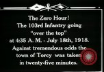 Image of American 103rd Infantry Torcy France, 1918, second 16 stock footage video 65675029596