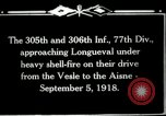 Image of 305th and 306th Infantry Longueval France, 1918, second 2 stock footage video 65675029597