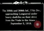 Image of 305th and 306th Infantry Longueval France, 1918, second 8 stock footage video 65675029597