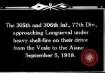 Image of 305th and 306th Infantry Longueval France, 1918, second 11 stock footage video 65675029597