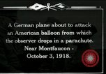 Image of observation balloon Montfaucon France, 1918, second 1 stock footage video 65675029598