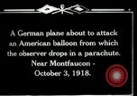 Image of observation balloon Montfaucon France, 1918, second 2 stock footage video 65675029598