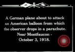Image of observation balloon Montfaucon France, 1918, second 3 stock footage video 65675029598